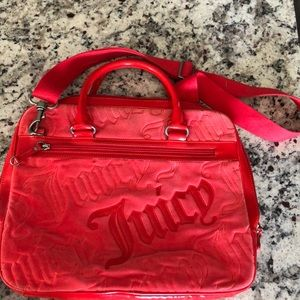 Red juicy couture computer case